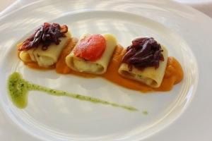 Ristorante Da Mirko, Paccheri Ripieni di Baccalà. Foto di Giorgio Dracoopulos Critico Gastronomico.